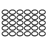 sourcing map 30Stk. Dichtring O-Form Gummi Gummiring Kautschukring 10mm Außendmr. 1,2mm Dicke de
