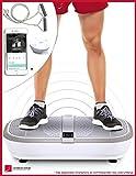 TESTSIEGER* Sportstech Profi Vibrationsplatte VP300 mit 3D Wipp Vibrations Technologie + Bluetooth A2DP Musik, Riesige Fläche,2 Kraftvolle Motoren + einmaliges Design + Trainingsbänder + Fernbedienung