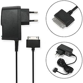 subtel® Chargeur de Qualité - 1.5m (2A / 2000mA) pour Samsung GT-P1000 Galaxy Tab / GT-P7500 Galaxy Tab 10.1 / GT-P7510 Galaxy Tab 10.1 (5V / Samsung Connector (30 Pin)) Chargeur Câble Secteur noir