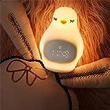 BLUE CHARM Pinguin Wecker Uhr Nachtlicht Digitalanzeige Schlummerwecker Ungiftig und geschmacklos USB