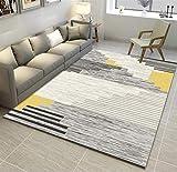 LIVEINU Alfombra De Diseño Moderna Contorneada Moquetas Pelo Corto Alfombras Salon con Bases Antideslizantes Patrón de Escandinavia Lavables 120x160cm