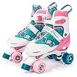 meteor® 2in1 Rollschuhe und Schlittschuh - Kinder Rollerskates Set - EIN Kauf und Spaß für das ganze Jahr - im Sommer als Rollschuh - im Winter als Damen Schlittschuh -S(31-34)-M(35-38)-L(39-42)
