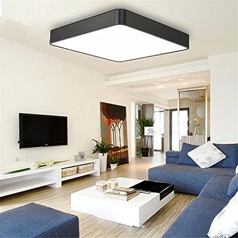 GQLBAluminium Deckenleuchte Wohnzimmer platz Büro LED Deckenleuchte Studie Schlafzimmer Lampe, 550 X 550 MM 56 W