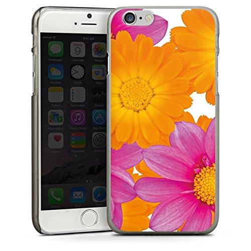 Apple iPhone 4 Housse Étui Silicone Coque Protection Fleurs Fleurs Rose vif CasDur anthracite clair