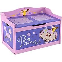 H3 Baby W187 - Banco baúl infantil diseño de princesa