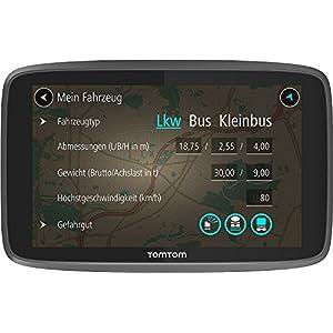 TomTom GO Professional 6250 LKW-Navigationsgerät (Updates über Wi-Fi, Lebenslang Traffic und Radarkameras, Smartphone-Benachrichtigungen, Lebenslang Karten-Updates Europa)