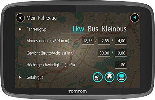 TomTom Go Professional 6250 LKW-Navigationsgerät (Updates über Wi-Fi, 15,2 cm (6 Zoll), Lebenslang Traffic und Radarkameras, Smartphone-Benachrichtigungen, Lebenslang Karten-Updates Europa)