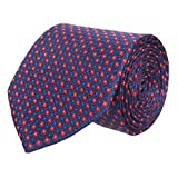 #5: Wamson Premium Microfibre Blue Party and Formal Tie for Mens with size