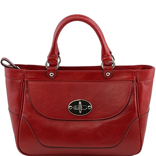 Tuscany Leather - TL NeoClassic - Sac à main en cuir pour femme Rouge - TL141226/4 Rouge