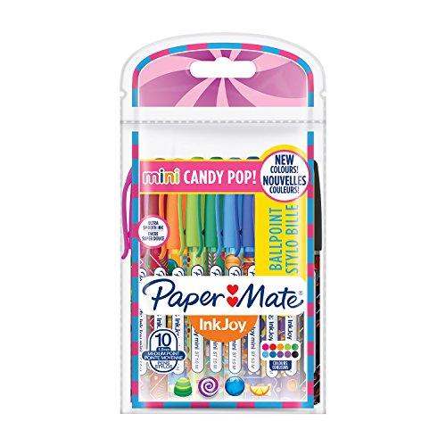 Paper mate 2022692inkjoy mini candy pop-set di 10penne sfera retrattile media 1mm