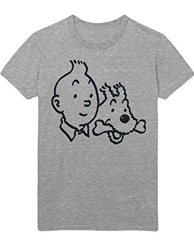 Hypeshirt T-Shirt Tim und Struppi C000004 Grau XL