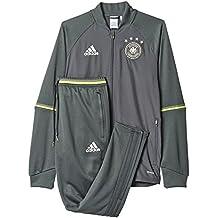 adidas DFB TRG Suit - Chándal Selección de Alemania 2016/2017 para hombre, color negro / verde / blanco, talla XS