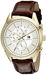 Tommy Hilfiger Mens 1791127 Sport Lux Analog Display Quartz Brown Watch