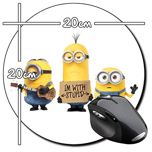 Despicable Me Gru Minions L Mauspad Round Mousepad PC