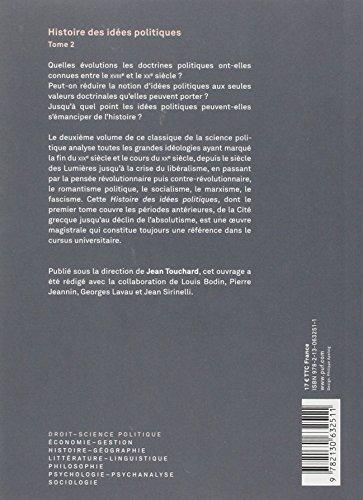 Histoire des idées politiques, tome 2