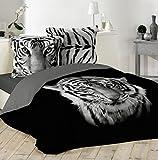 Parure De Couette Noir Tigre Blanc Royal 3 tailles , enfant,...