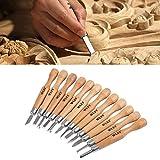 Pratique Précis sophistiqué durable WLXY 12 PCS/Set bois ciseaux à découper couteau de base de gravure sur bois de travail à la main en caoutchouc timbres outils à main Facile à utiliser