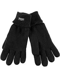 Handschuh Comfort Thinsulate Fingerhandschuhe gefütterte Handschuhe Winterhandschuhe schwarz L/XL