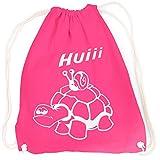 vanVerden Sport Turnbeutel Schildkröte Schnecke Huiii inkl. Geschenkkarte, Farbe:Fuchsia (Pink)