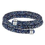 Swarovski Bracciale rigido Crystaldust Double, azzurro