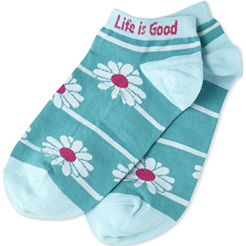 life-is-good-damen-low-cut-socke-stripe-sara-als-daisy-blaugrun-damen-bright-teal-einheitsgrosse