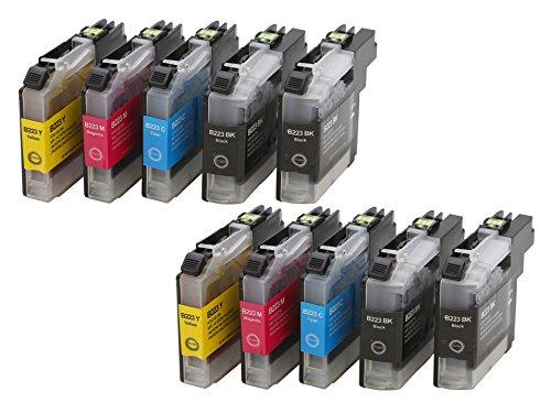 Preisvergleich Produktbild Druckerpatrone Tintenpatrone kompatibel für Brother LC-223 XXL 4 schwarz 2 cyan 2 magenta 2 yellow mit Chip geeignet für Brother DCP-Serie: DCP-J 562 DW / DCP-J 4120 DW MFC-J-Serie: MFC-J 4420 DW / MFC-J 4425 DW / MFC-J 4620 DW / MFC-J 4625 DW / MFC-J 5320 DW / MFC-J 5600 Series / MFC-J 5620 DW / MFC-J 5625 DW / MFC-J 5720 DW