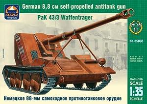 Ark Models ak35008-German de Self Propelled Anti Reservorio Gun Pak, 8.8cm