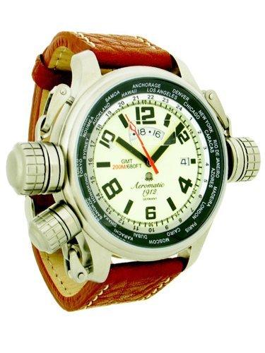 Aeromatic 1912 A1284 Aeromatic A1284 - Reloj , correa de cuero color marrón