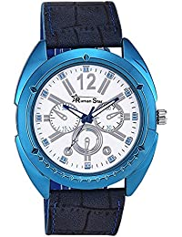 Roman Star RS029 Leather Blue Coloured With Blue Leather Strap Quartz Watch For Men