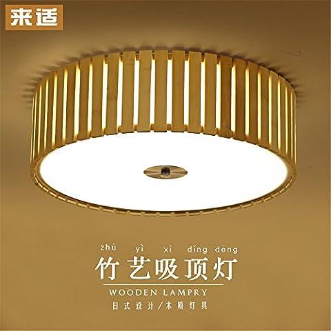 Leihongthebox Bamboo ceiling light Japanese tatami floor lamp LED light for Hall, Study Room, Office, Bedroom, Living Room,780mm bamboo
