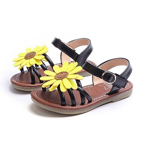 Girls Flat Sandalen Sunflower Sommer Open Toe Princess Dress Shoes für Kinder (Kleinkind/Kleines Kind/Big Kid) (Für Princess Dress Kleinkinder Up-schuhe)