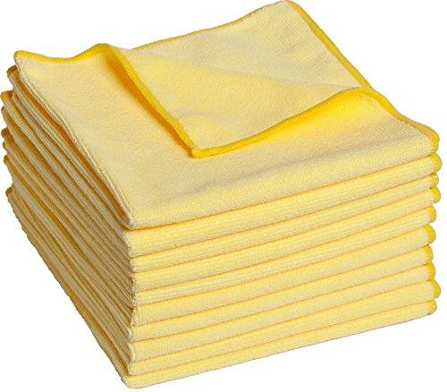 FloKa69® 10 Stück saugstarke Microfaser Putztücher 300gsm 40x40 cm ideal für Haushalt Büro Küche Bad Auto I Premium Geschirrtücher Putzlappen für Fenster Spiegel Bildschirm