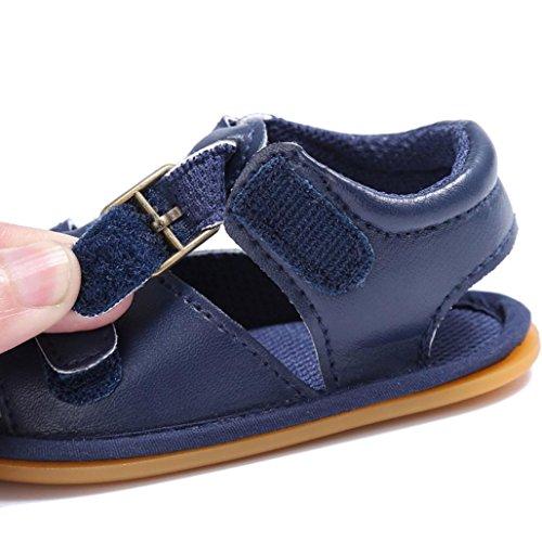 Chaussures de bébé,Fulltime® Kids garçons lit enfant en bas âge nouveau-né sandales chaussons fille Navy