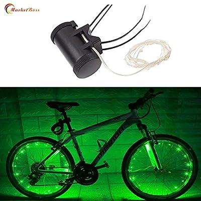marketboss Cool Fahrrad Rand Licht 20-leds Ihr Fahrrad Super Helle Personalisierte gebaute Bunte LED-Rad Beleuchtung–Perfekt für Sicherheit Radfahren