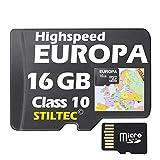 Topo Europa Karte 16 GB mit H�henlinien f�r Garmin Edge 800 810 Montana 600 650t +EUROPA 16GB /ALLE Garmin-Ger�te /MicroSDCard/WORLDWIDE + ORIGINAL von STILTEC Bild