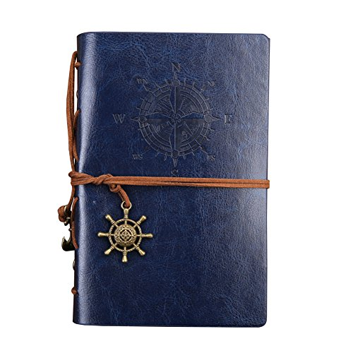 Outdoor-abenteuer-muster (Freude B5 Piratenschiff Muster Notebook Dairly Notebook Modell Innovative Stationery Retro Notizblock Travel loseblattwerken Tagebuch, Buch oder schreiben Notizen blau)