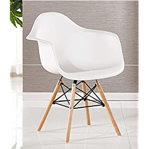 Bentley Home Stuhl, Polypropylen Und Aus Buchenholz, Weiß, 60 X 62 X 80