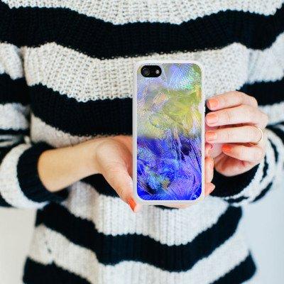 Apple iPhone 5s Housse Étui Protection Coque HIEN LE Poisson rouge Design Housse en silicone blanc