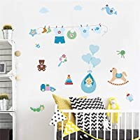 Baby Clothing Toys Wall Decals Kids Rooms Nursery Home Decor 95 * 102cm Wall Stickers PVC Mural Art DIY Posters Gifts