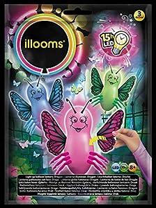 ILLOOMS - Lote de 3 globos LED luminosos, multicolor