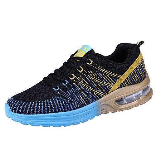 Dorical Herren Leichte Laufschuhe Outdoor Jogging Sneaker Sportschuhe Unisex, Tennisschuhe Sneaker Für Männer Frau Turnschuhe Freizeitschuhe, Neon Turnschuhe Sneaker Sportschuhe(Blau,41 EU)