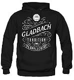 Mein leben Gladbach Kapuzenpullover | Freizeit | Hobby | Sport | Sprüche | Fussball | Stadt | Männer | Herren | Fan | M1 Front (XL)