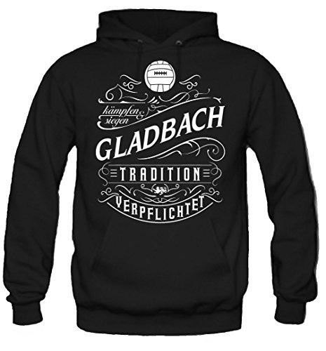 Mein leben Gladbach Kapuzenpullover   Freizeit   Hobby   Sport   Sprüche   Fussball   Stadt   Männer   Herren   Fan   M1 Front (L)