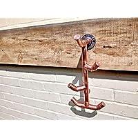 Copper Pipe Hook - Coat/Hat/Towel Hooks - Industrial/Vintage/Rustic - 22mm Thick - Handmade UK