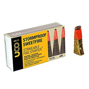 UCO Unisex Stormproof Sweetfire Strikeable Fireslighters, Multi-Coloured, One Size