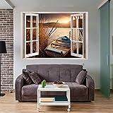 decomonkey | Optische Täuschung | Weitblick Fensterblick 3D Wandillusion ca 140x100 cm Wandbild Fototapete Tapete Poster XXL Vlies Leinwand Bilder DekorationTOC0011aM