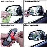 SStaste Blind Spot Spiegel, Auto Spiegel Seite View Blind Spot & Breiter Spiegel Stick auf Aux Winkel Einstellbar Auto Rückspiegel Aufklebbarer Design passend für Alle Universal Fahrzeuge (2Stück)