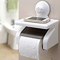 cherry Waterproof Bathroom Toilet Tissue Paper Roll Holder With Power Suction Cup,White