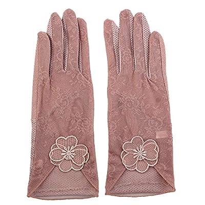 Miki&Co Paar Reisen Radfahren Fahren Blumendekor Sonnenbeständige Handschuhe Rosa