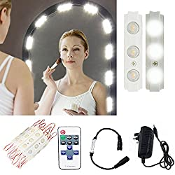 Hollywood Make-up Vanity Mirror Light,60 Leds 9.8Ft Bathroom Vanity Light Kit for DIY Cosmetic Make Up Mirror with Remote,Dimmer & Switch Power Supply UK (Mirror Not Included)